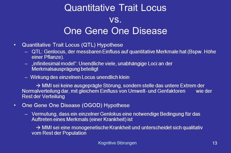 Quantitative Trait Locus vs. One Gene One Disease