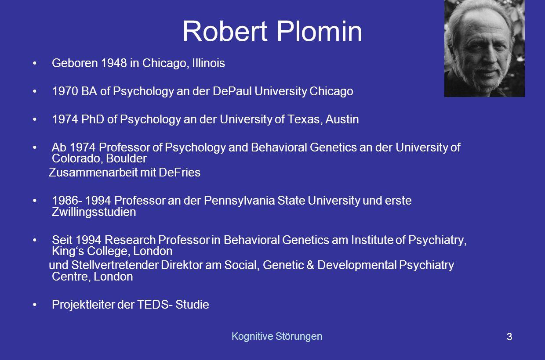 Robert Plomin Geboren 1948 in Chicago, Illinois