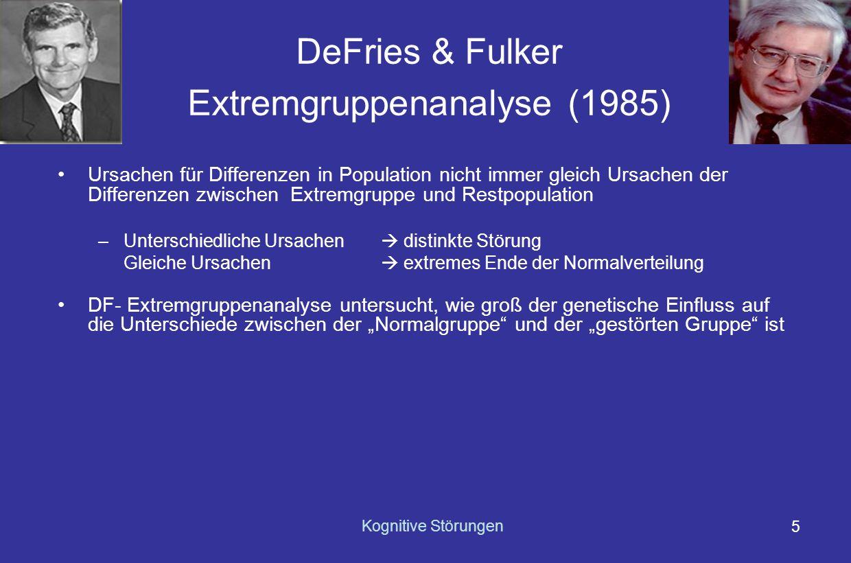 DeFries & Fulker Extremgruppenanalyse (1985)