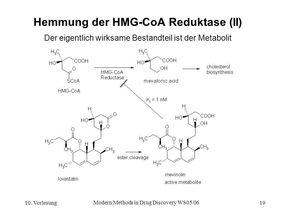 Hemmung der HMG-CoA Reduktase (II)