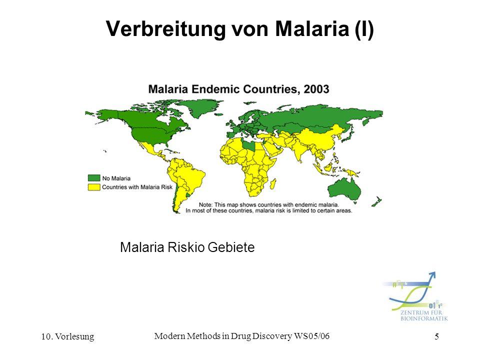 Verbreitung von Malaria (I)