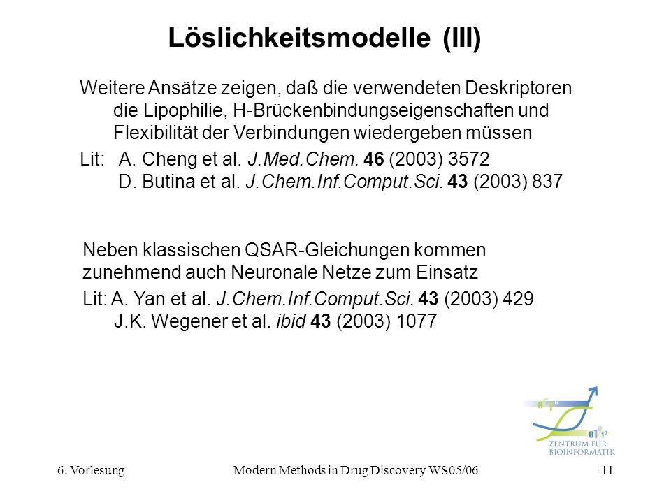 Löslichkeitsmodelle (III)