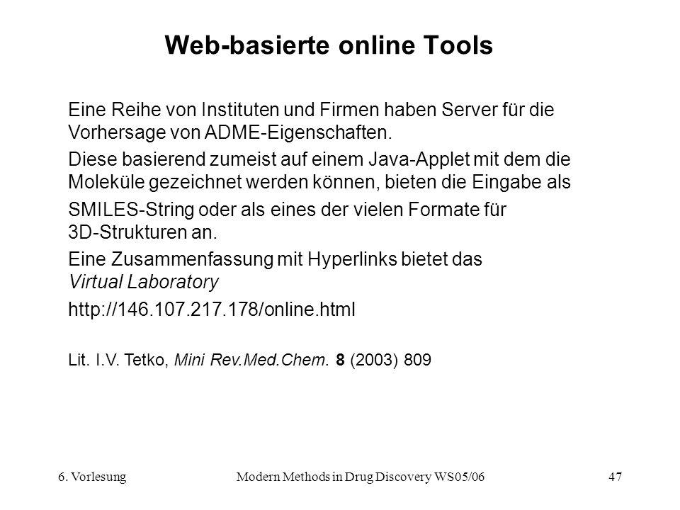 Web-basierte online Tools