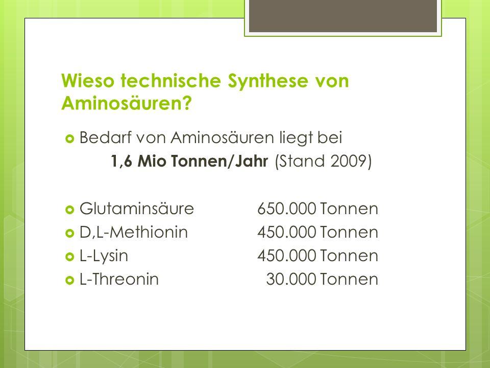 Wieso technische Synthese von Aminosäuren