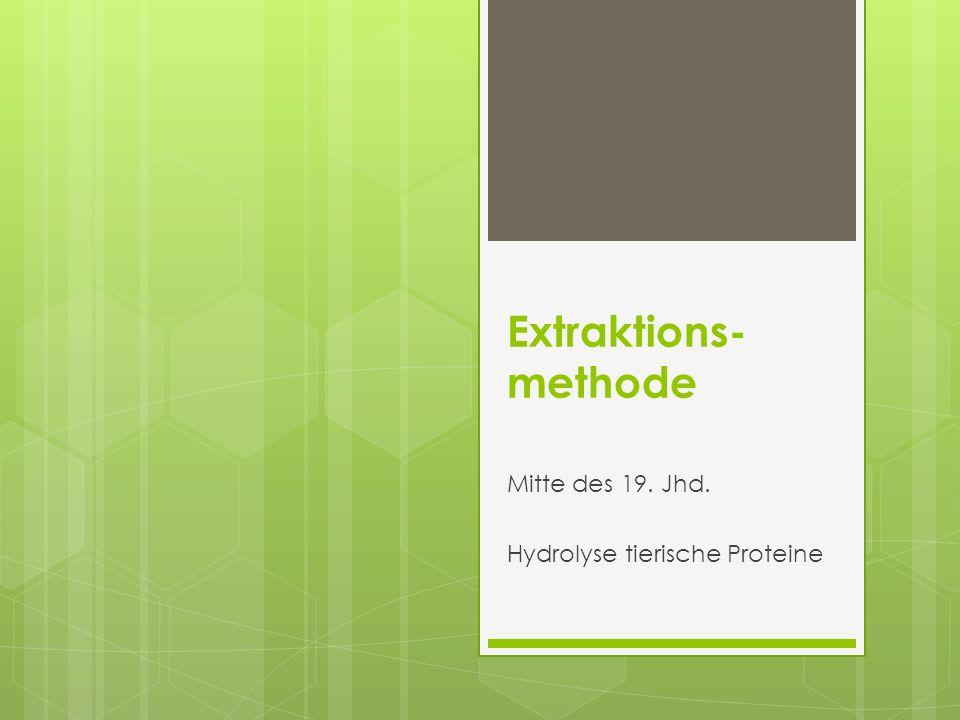 Mitte des 19. Jhd. Hydrolyse tierische Proteine