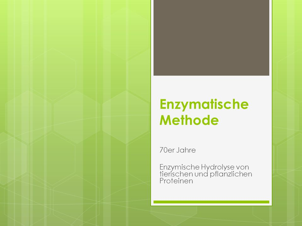 Enzymatische Methode 70er Jahre