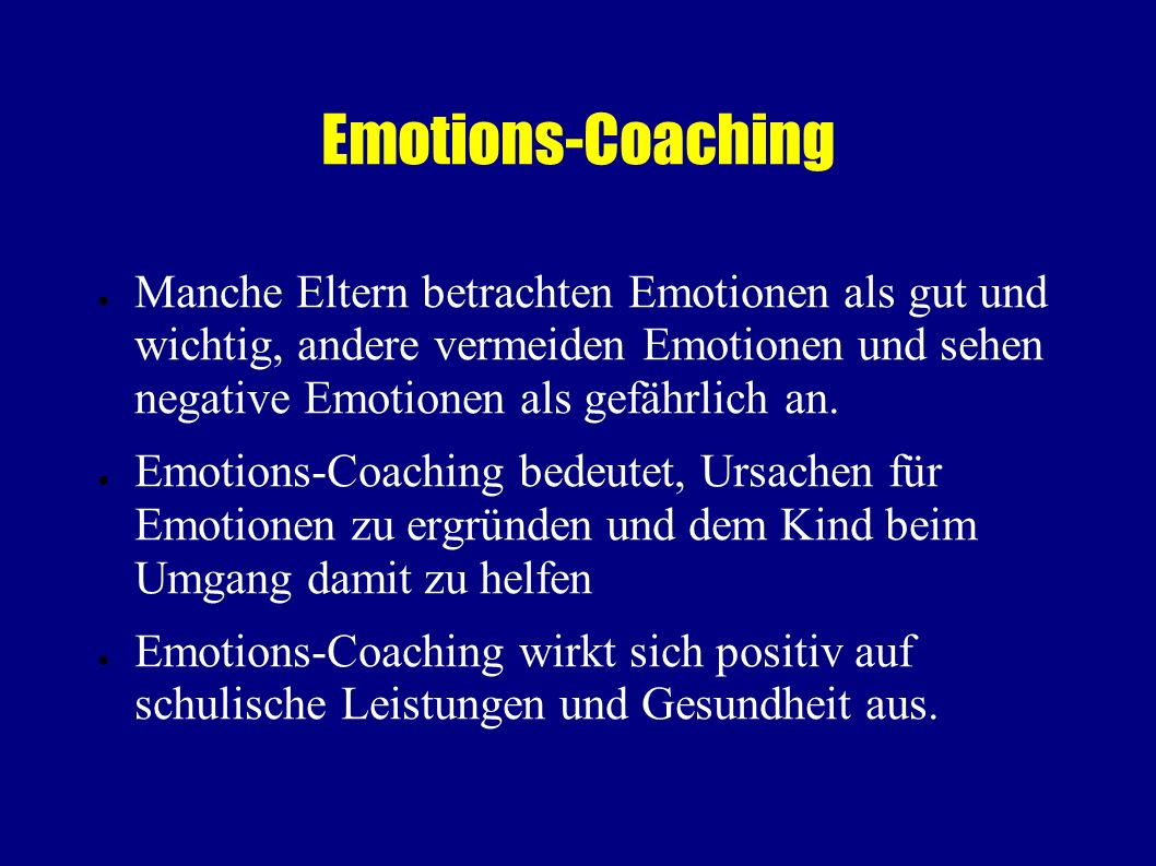 Emotions-Coaching
