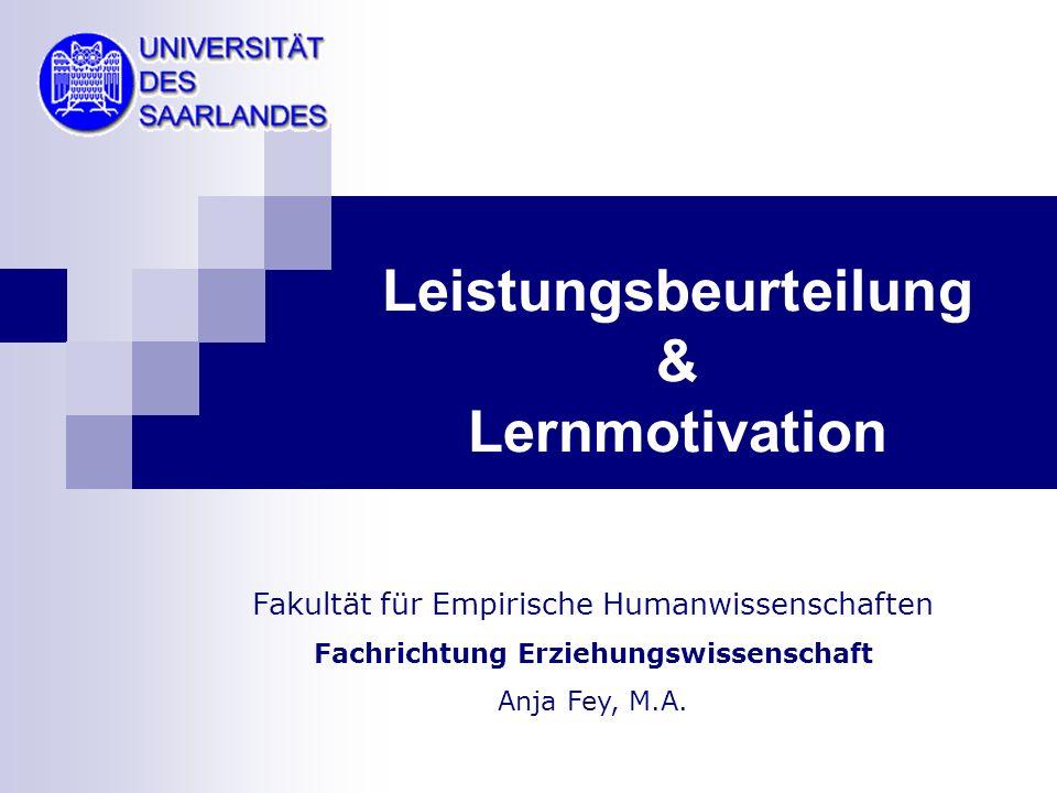 Leistungsbeurteilung & Lernmotivation