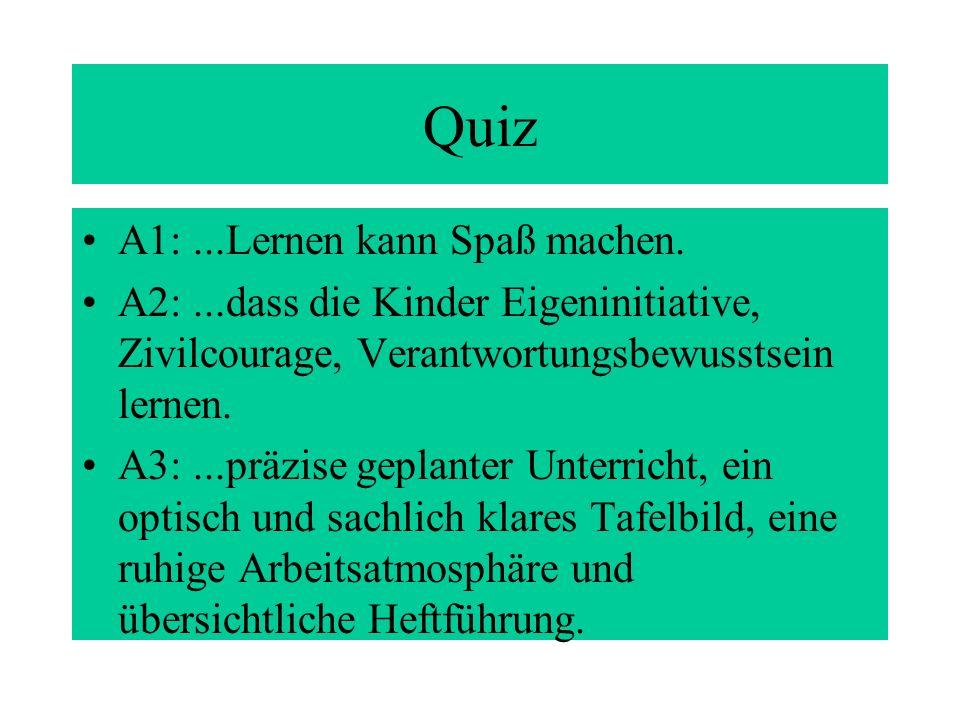 Quiz A1: ...Lernen kann Spaß machen.