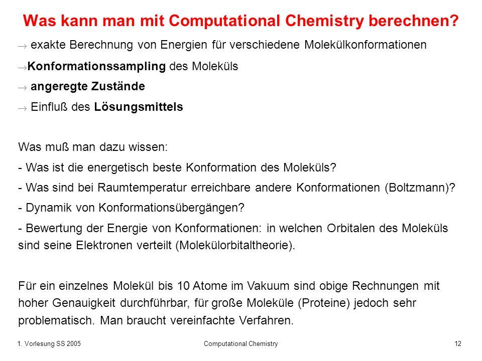 Was kann man mit Computational Chemistry berechnen