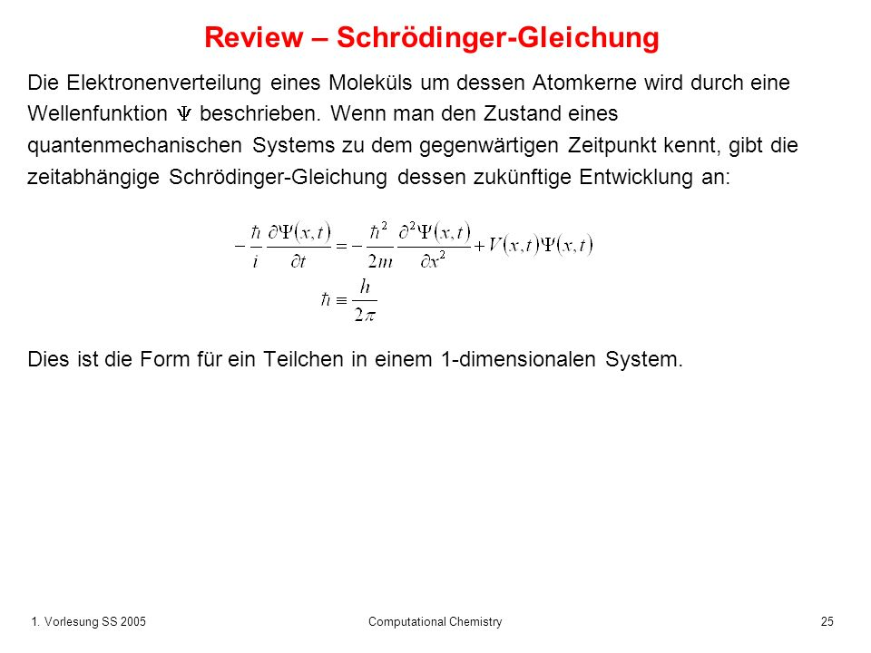 Review – Schrödinger-Gleichung