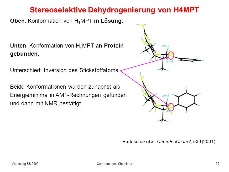 Stereoselektive Dehydrogenierung von H4MPT