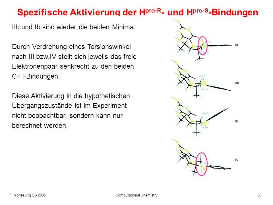 Spezifische Aktivierung der Hpro-R- und Hpro-S-Bindungen