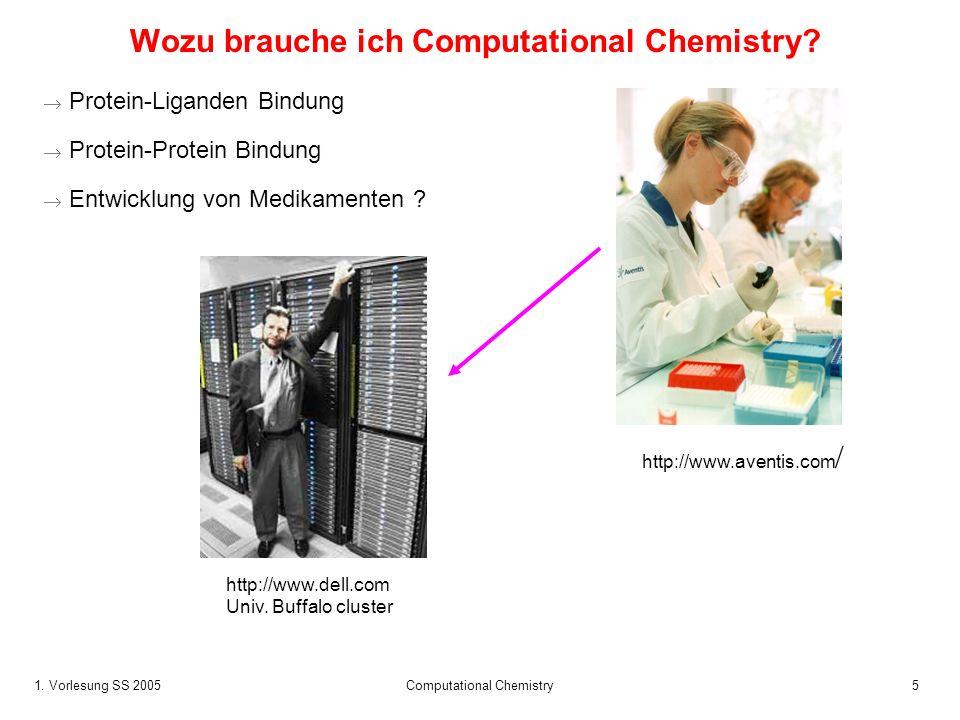 Wozu brauche ich Computational Chemistry