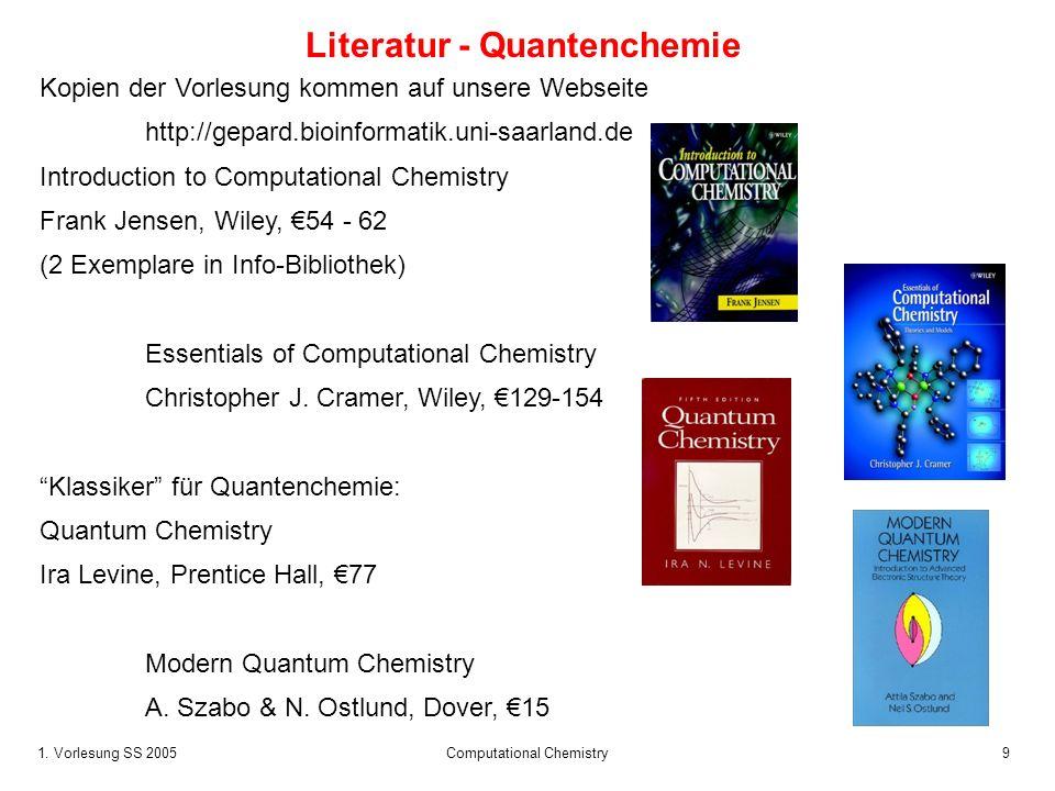 Literatur - Quantenchemie