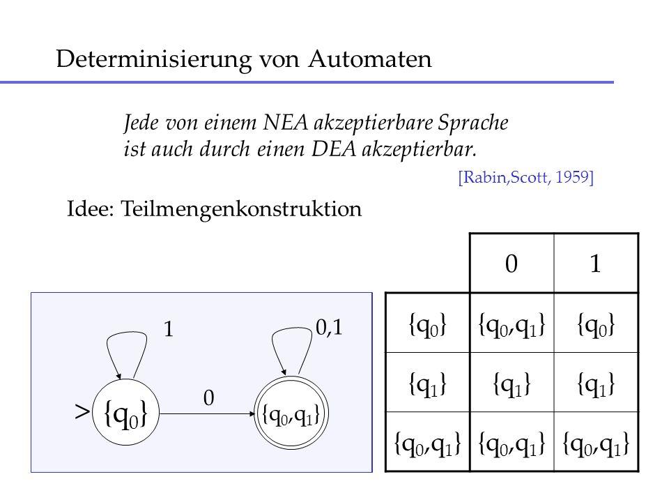 Determinisierung von Automaten