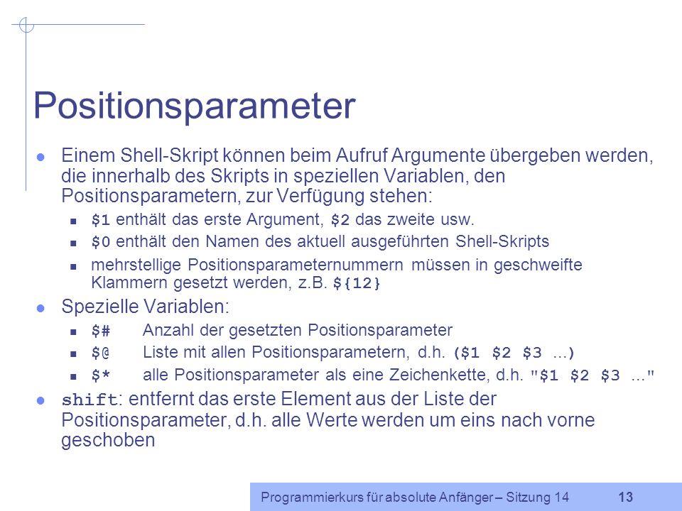 Positionsparameter