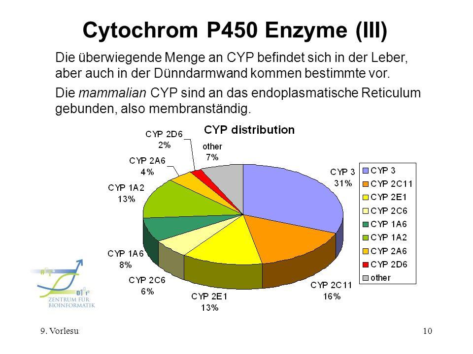 Cytochrom P450 Enzyme (III)