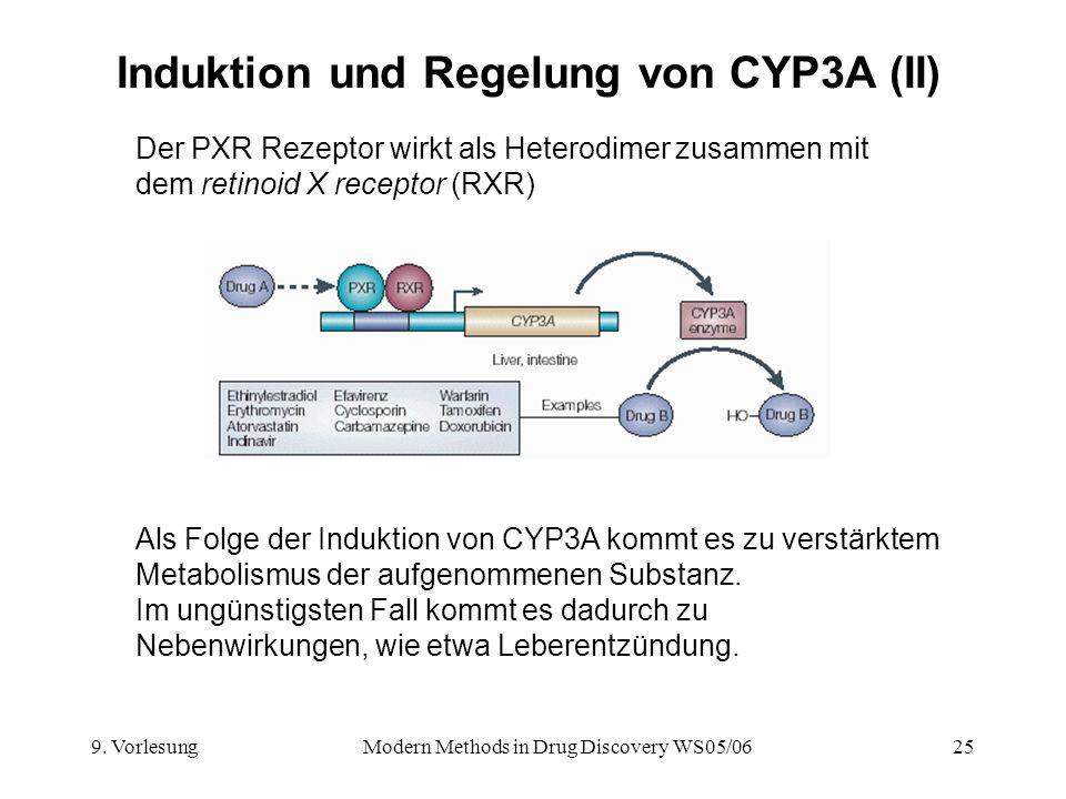 Induktion und Regelung von CYP3A (II)