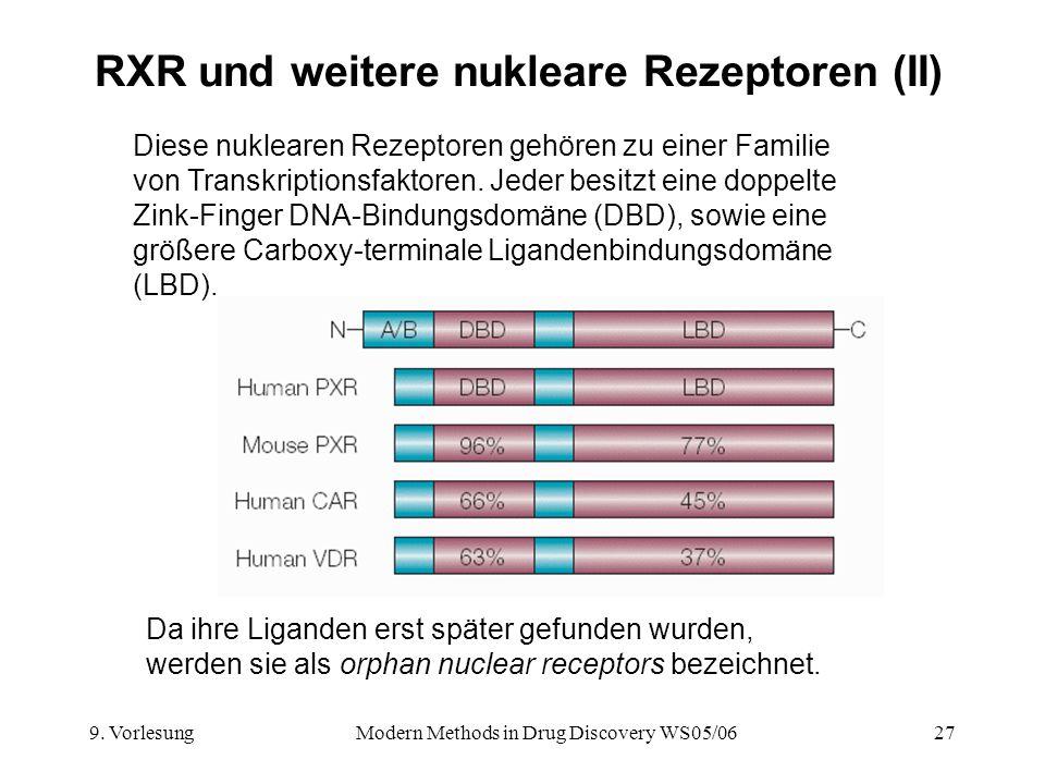 RXR und weitere nukleare Rezeptoren (II)