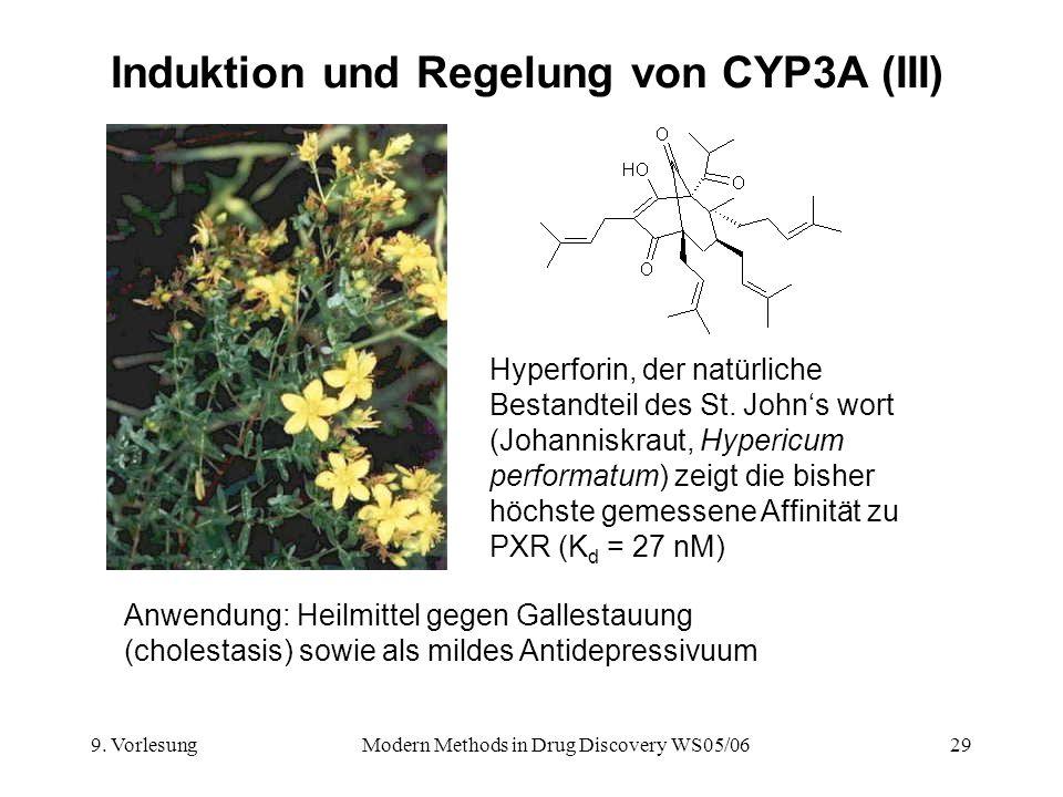 Induktion und Regelung von CYP3A (III)