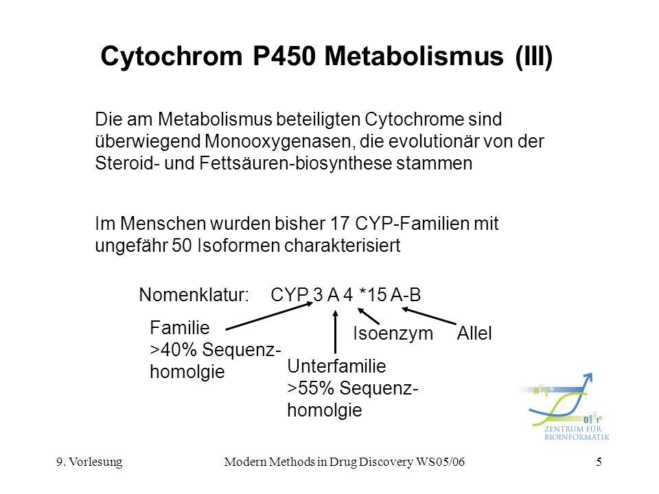 Cytochrom P450 Metabolismus (III)