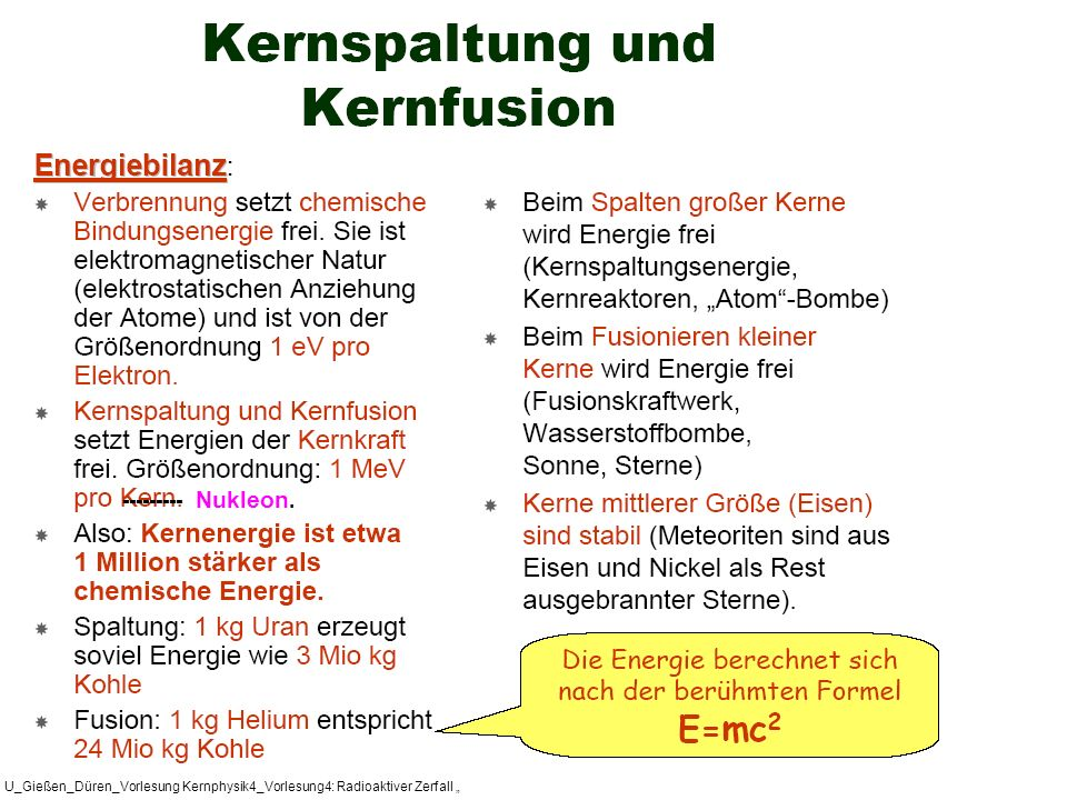 "--------- Nukleon. U_Gießen_Düren_Vorlesung Kernphysik4_Vorlesung4: Radioaktiver Zerfall """