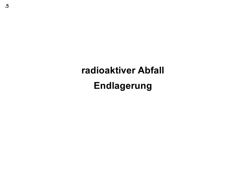 radioaktiver Abfall Endlagerung