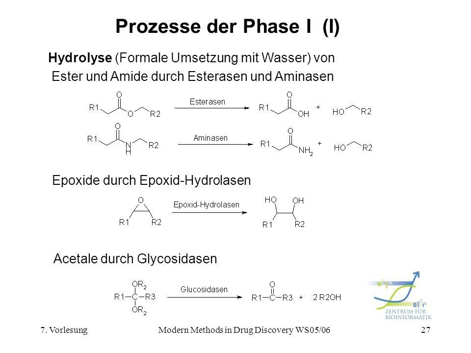 Prozesse der Phase I (I)