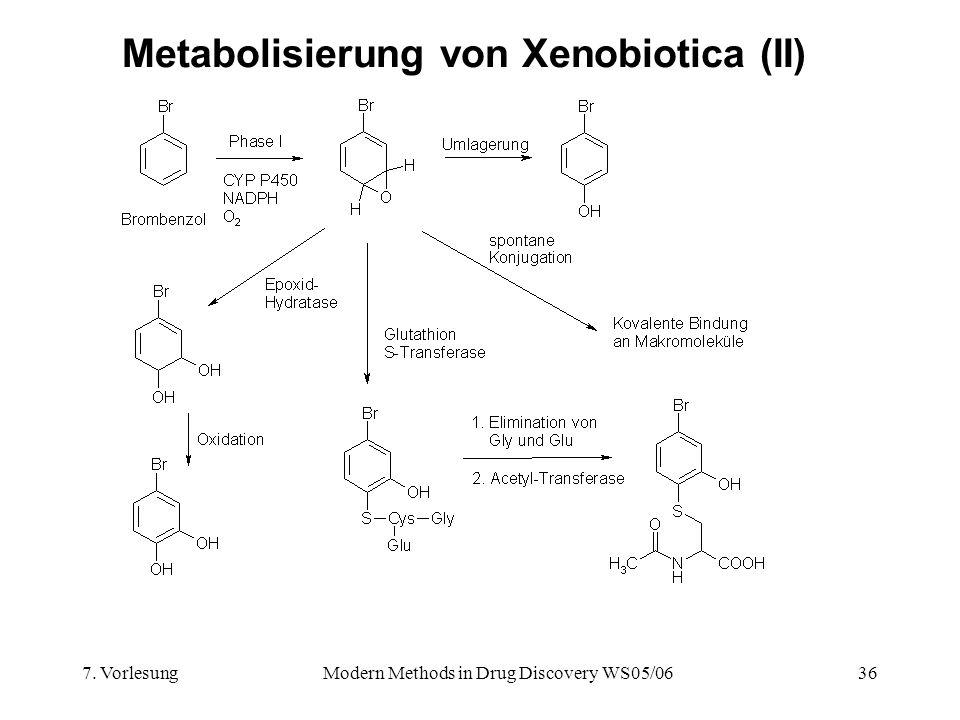 Metabolisierung von Xenobiotica (II)