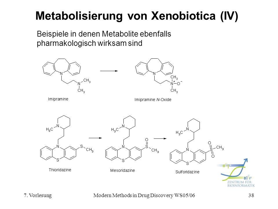 Metabolisierung von Xenobiotica (IV)