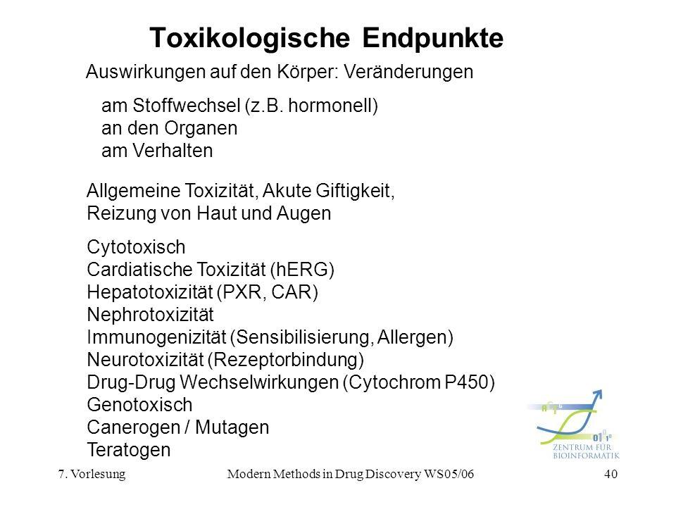 Toxikologische Endpunkte
