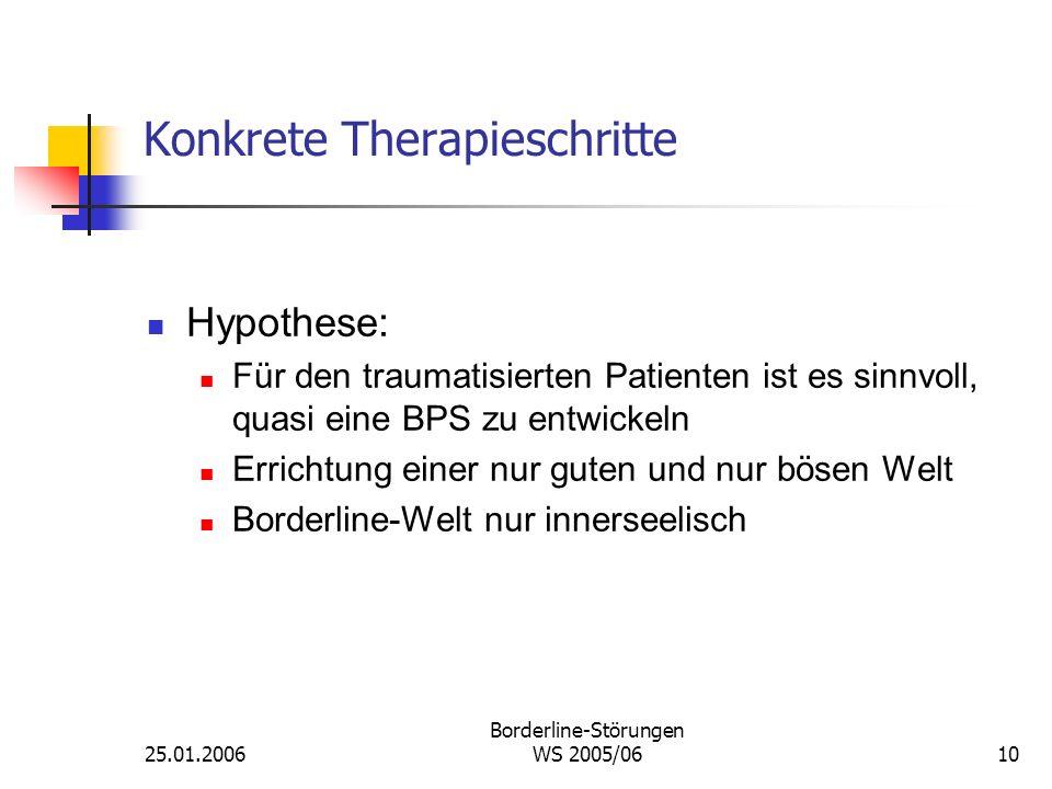 Konkrete Therapieschritte