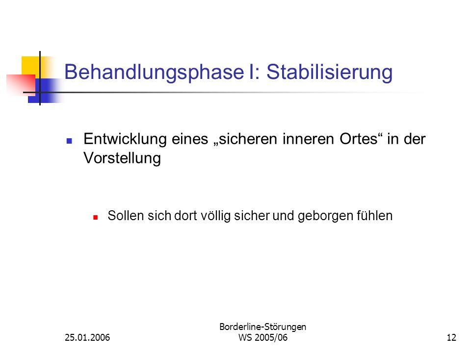 Behandlungsphase I: Stabilisierung