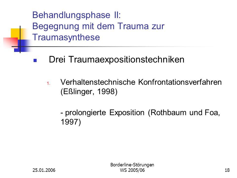 Behandlungsphase II: Begegnung mit dem Trauma zur Traumasynthese