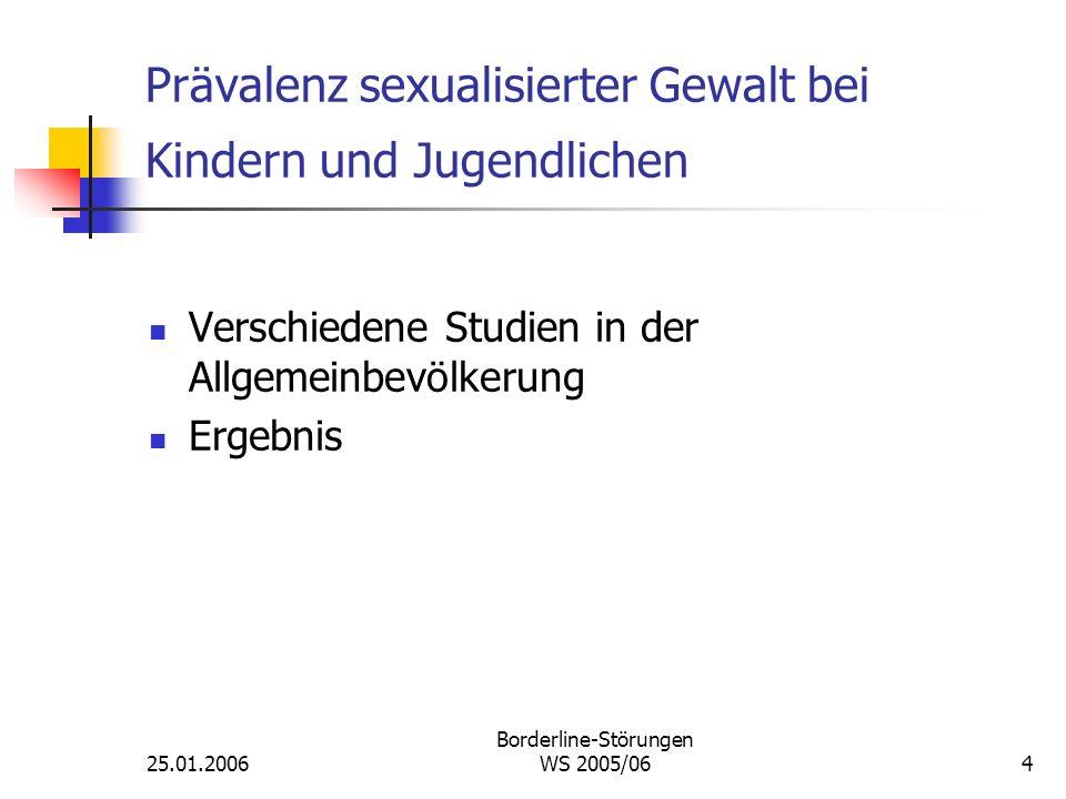 Prävalenz sexualisierter Gewalt bei Kindern und Jugendlichen
