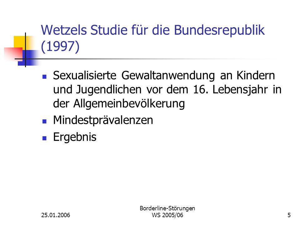 Wetzels Studie für die Bundesrepublik (1997)