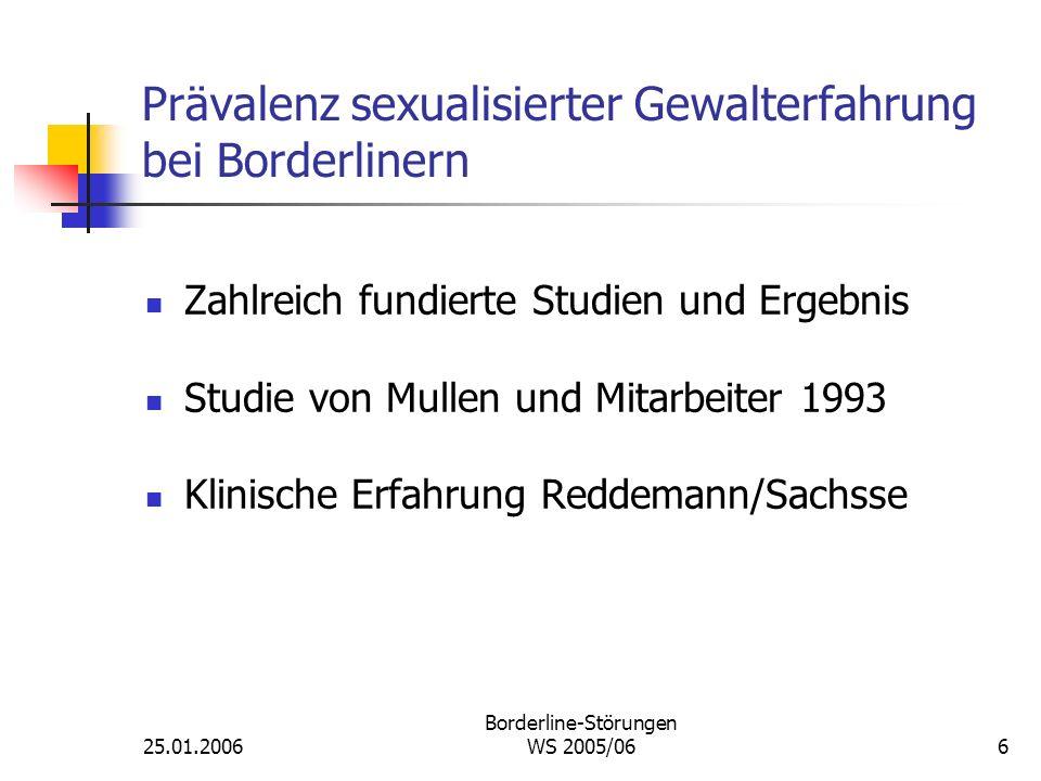 Prävalenz sexualisierter Gewalterfahrung bei Borderlinern