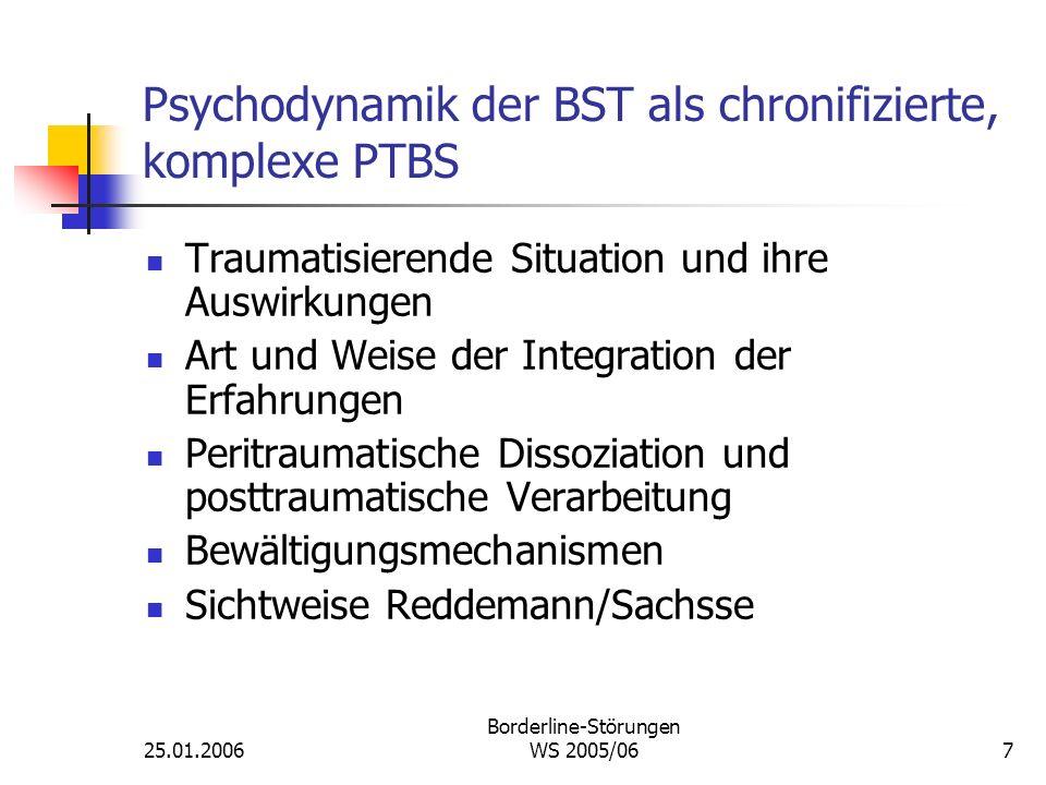 Psychodynamik der BST als chronifizierte, komplexe PTBS