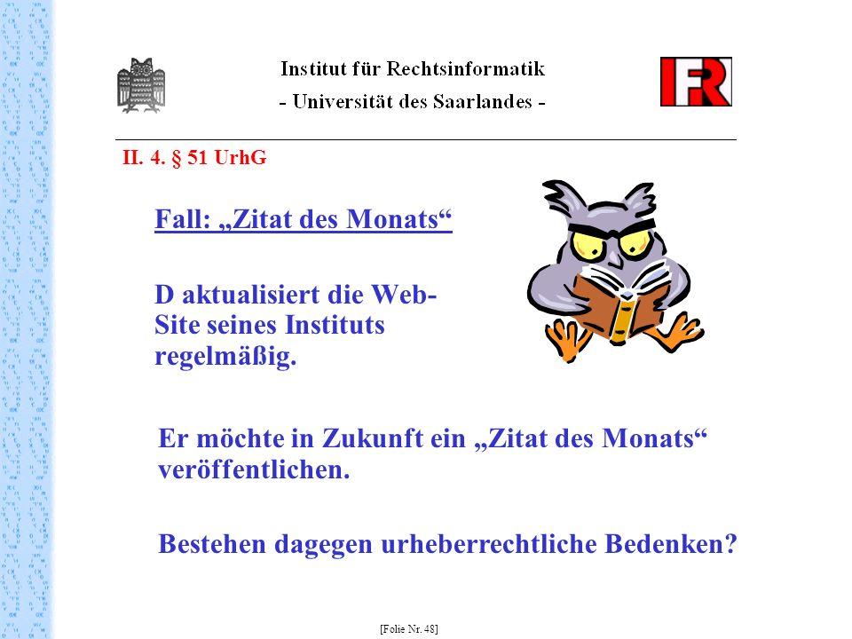 """Fall: """"Zitat des Monats"""