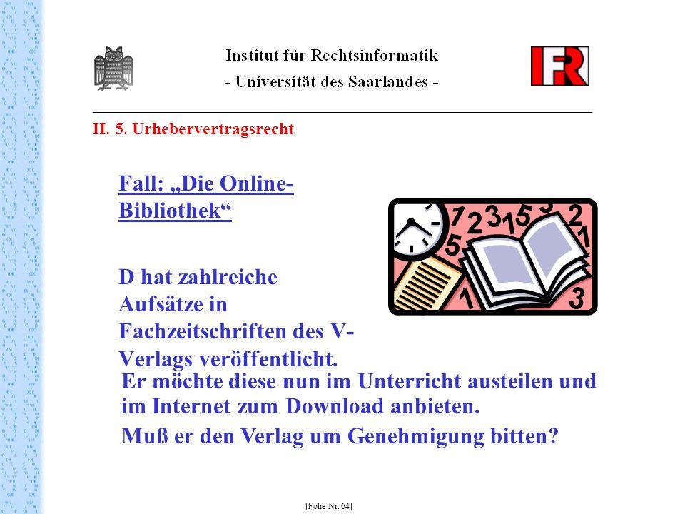 """Fall: """"Die Online-Bibliothek"""