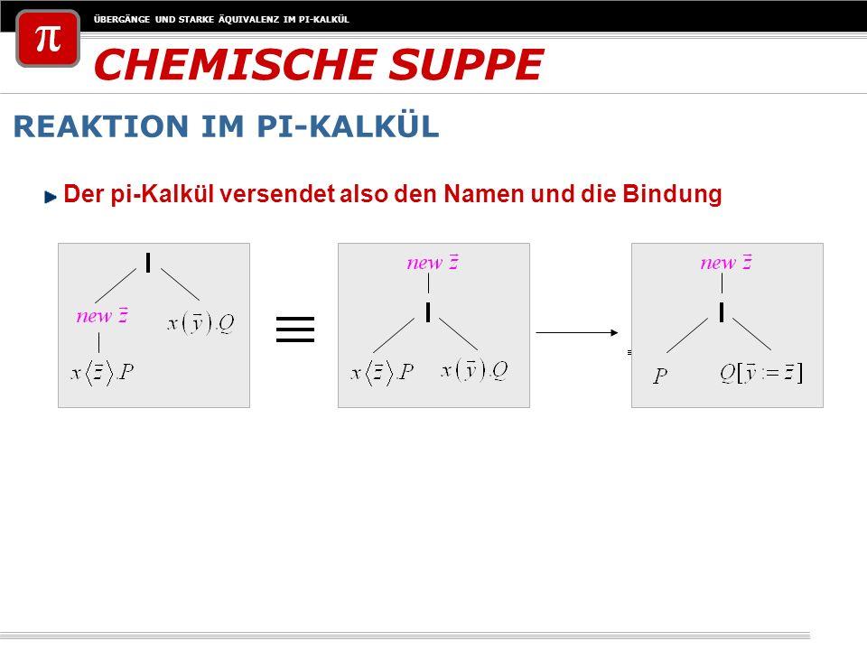 CHEMISCHE SUPPE REAKTION IM PI-KALKÜL