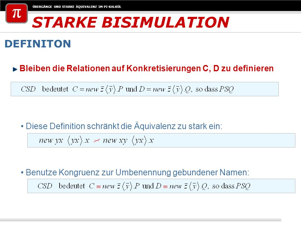 STARKE BISIMULATION DEFINITON