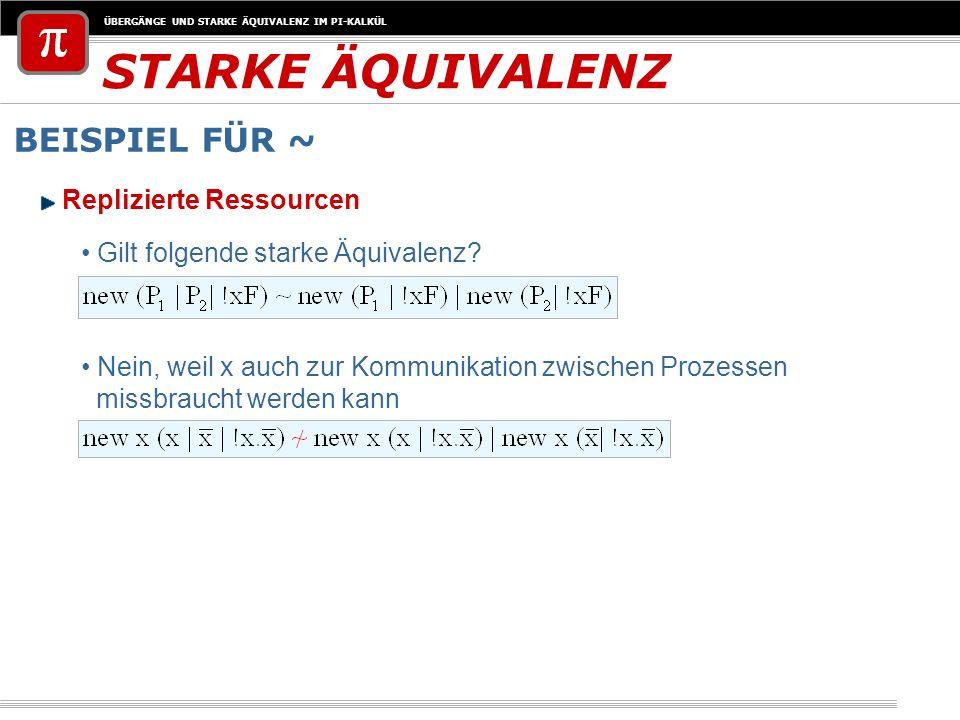STARKE ÄQUIVALENZ BEISPIEL FÜR ~ Replizierte Ressourcen