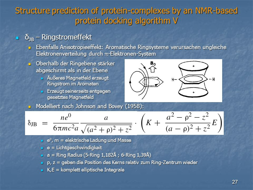 Structure prediction of protein-complexes by an NMR-based protein docking algorithm V