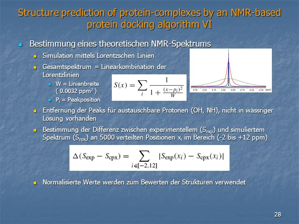 Structure prediction of protein-complexes by an NMR-based protein docking algorithm VI