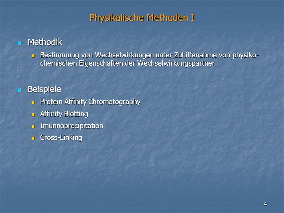 Physikalische Methoden I