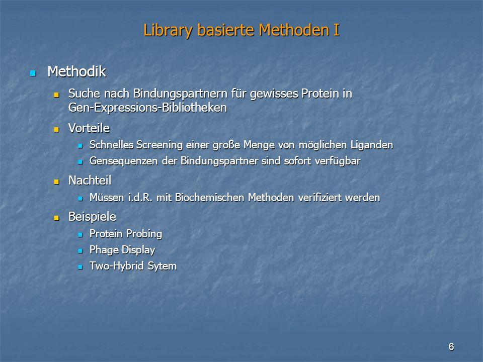 Library basierte Methoden I
