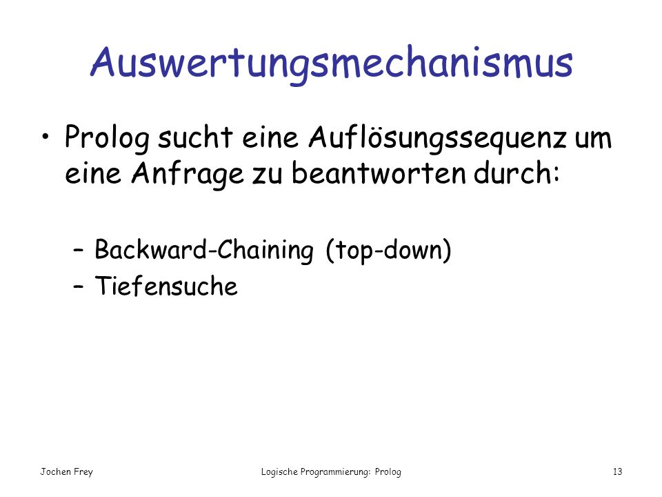 Auswertungsmechanismus