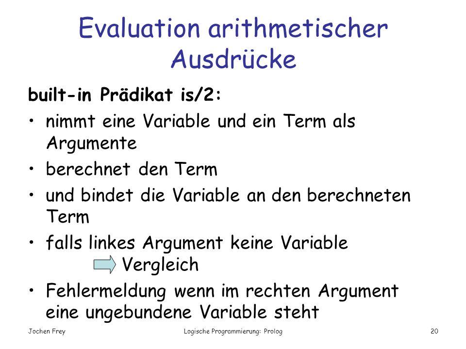 Evaluation arithmetischer Ausdrücke